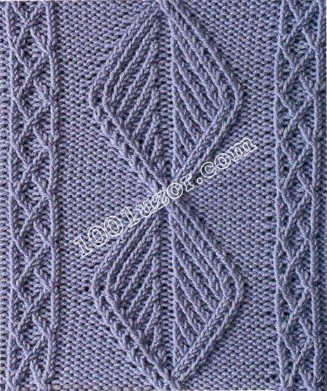 1001 pattern. Patterns spokes. Patterns of crossed loops, pattern 7