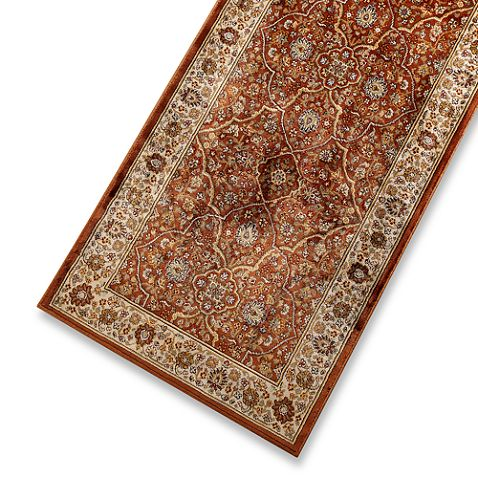 Verona persian rug in rust cream the med master bath for Master bathroom rugs