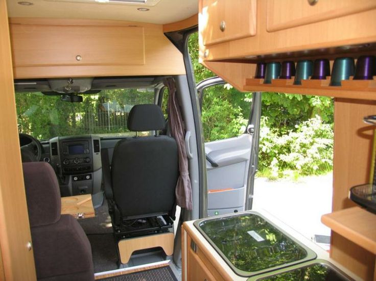Blonde Wood Cabinetry In A Cs Luxor Camper Built On A Mercedes Sprinter 319cdi Van Chassis
