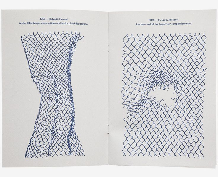 'Olympic Fencing' is a 16-page book of chain link fence drawings.   Each fence is paired with a detailed documentation of origin.  $10 includes s/h
