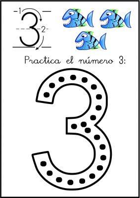 lectoescritura de numeros el 3 ficha 1