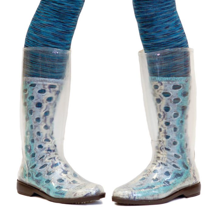 peek•a•boots (clear rain boots let you show off hand-knit socks, designer tights, etc.) https://www.flickr.com/photos/heathashli/8638531783