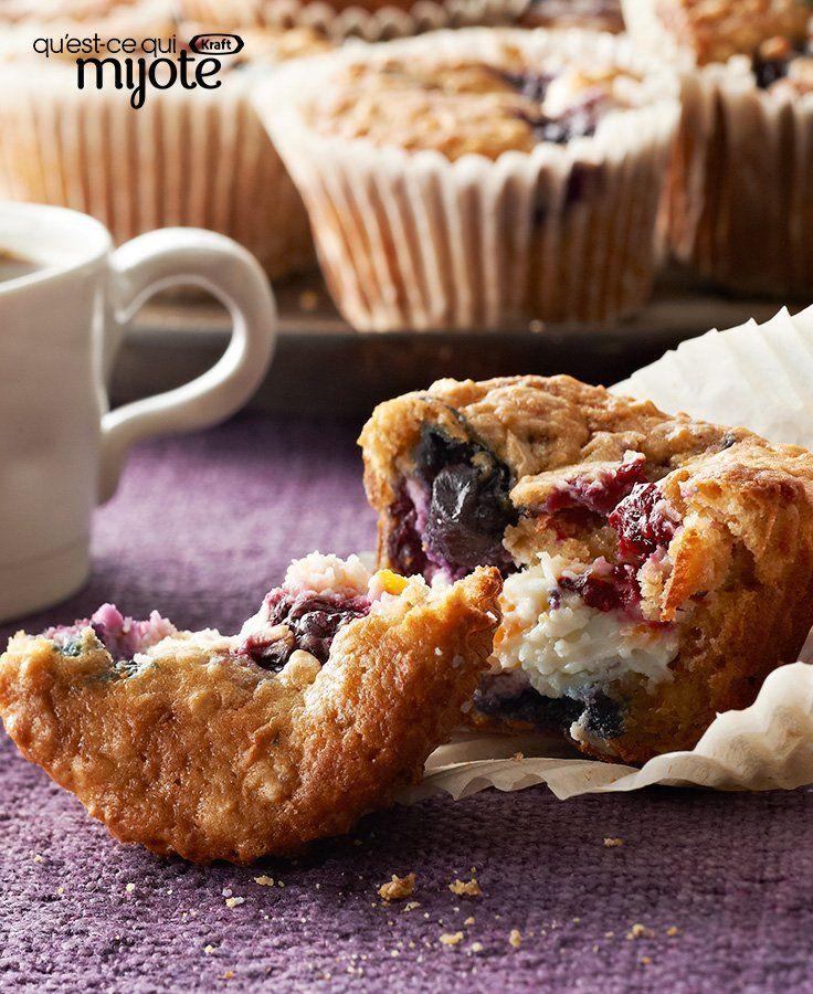 Muffins Gâteau au fromage aux petits fruits #recette