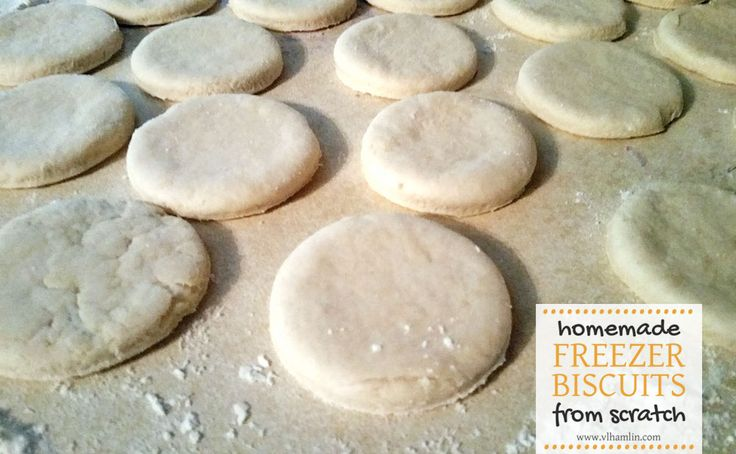Love having premade biscuits on hand, but hate the cost of buying them? Make your own homemade freezer biscuits from scratch in less than 20 minutes!