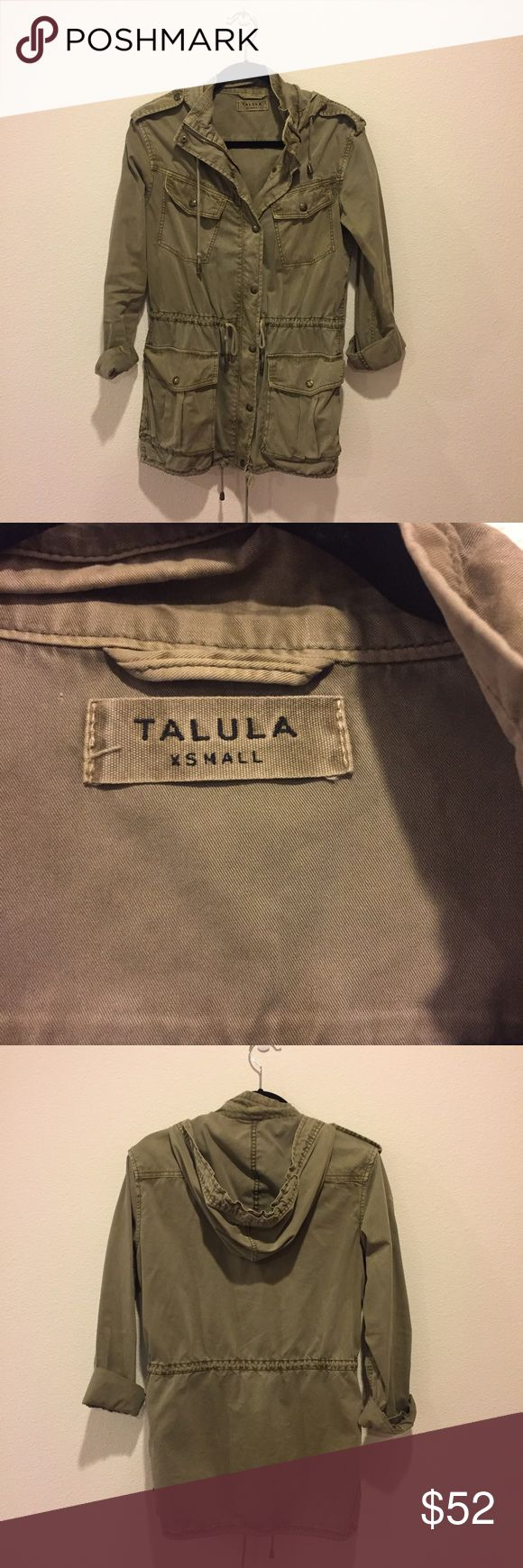 Aritzia Talula Green Military Jacket Talula Trooper Jacket in XS. Worn but good condition. No stains / rips, etc. Runs big - I normally wear size small Aritzia Jackets & Coats Utility Jackets