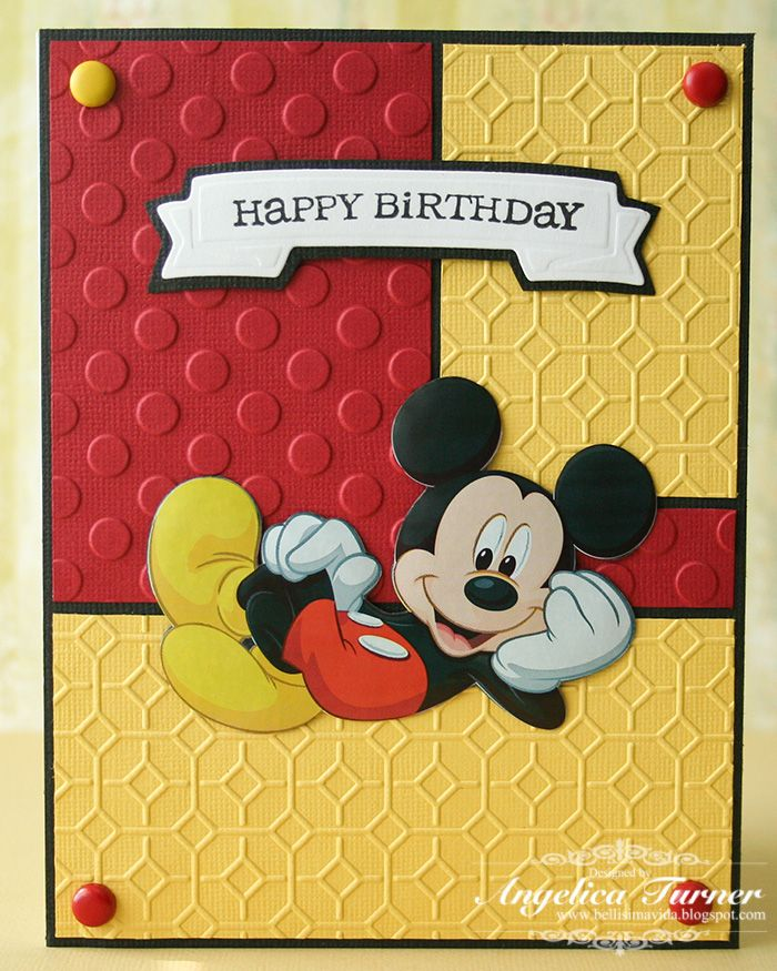 Mickey Birthday Card - Scrapbook.com cute for kids