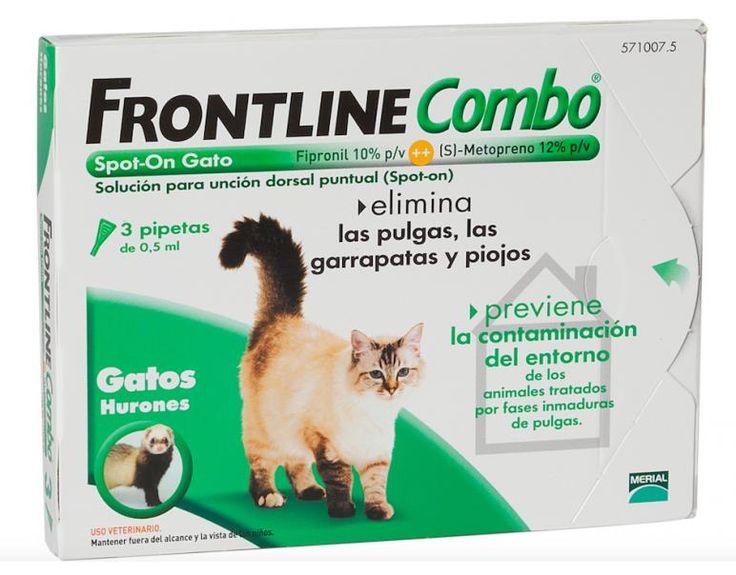 Antiparasitaria previene y elimina garrapatas, pulgas y piojos para gatos Frontline