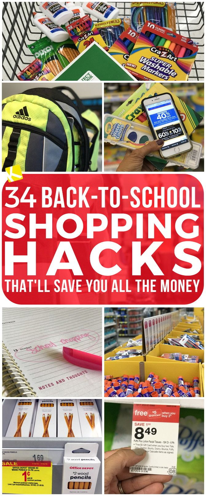 Check out these back-to-school shopping hacks to save you all the money this summer.