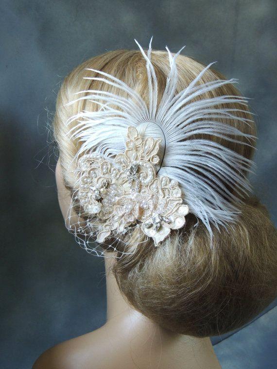 Wedding Hair Piece Bridal Accessories door svitlanasbridalveils, $55.95