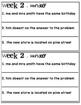 Printables Dol Worksheets 1000 ideas about daily oral language on pinterest dol book 1 aligned to 4th grade ccss
