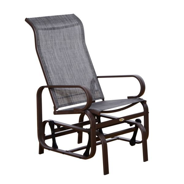 Outsunny Glider Swing Chair Seat Lounger Porch Rocker Outdoor Patio Garden Outdoor Gliders Aosom Patio Rocking Chairs Glider Rocking Chair Patio Swing Chair