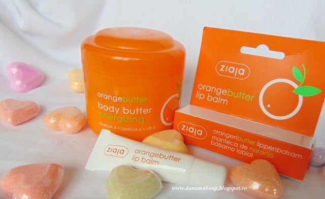danamakeup.ro: Ziaja Orange body butter & lip balm, review