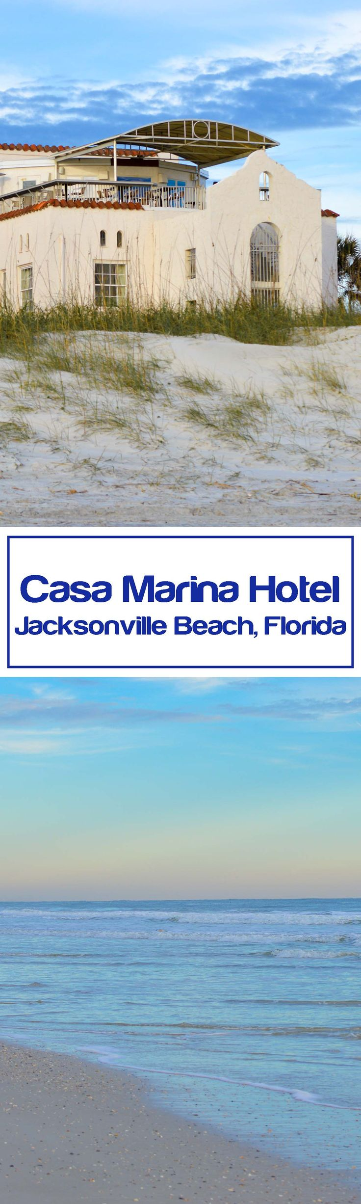Hotel Review - Casa Marina Hotel in Jacksonville Beach, Florida. A stay at historic Casa Marina Hotel is not your typical beach hotel stay. You'll be charmed by the stories that live within the old walls and may even hear the voice of one of its famous guest whisper in your ears.