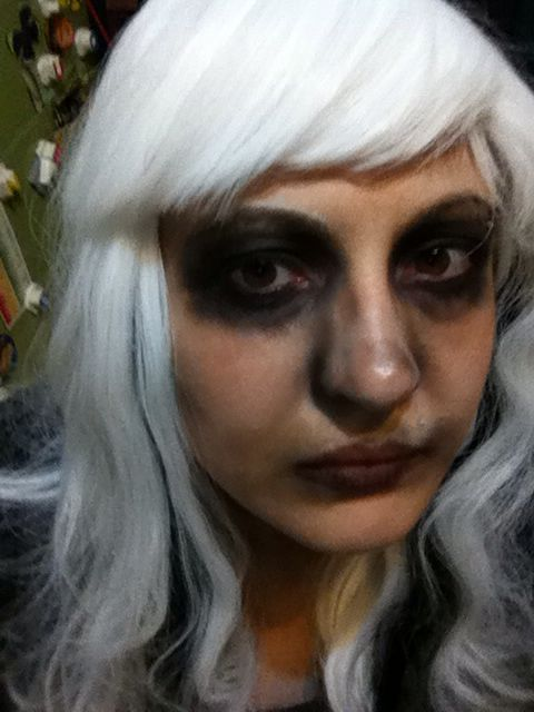 Halloween 2014. My attempt to recreate a look from Pinterest