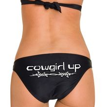 Cowgirl up Barbwire Black Bikini Bathing Suit For Women that love the country in them - a great gift for any girl or lady