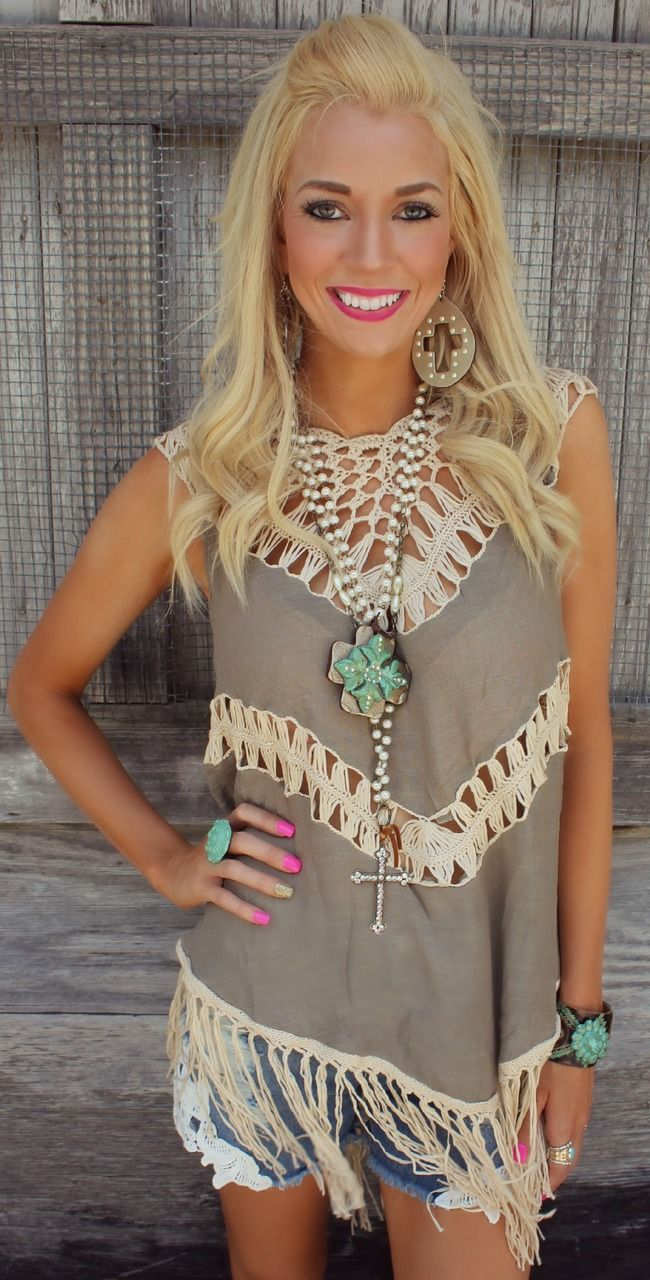 Bohemian Beauty Fringe Tank - The Lace Cactus
