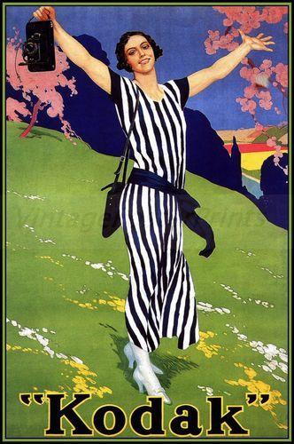 Kodak 1923 Camera European Vintage Poster