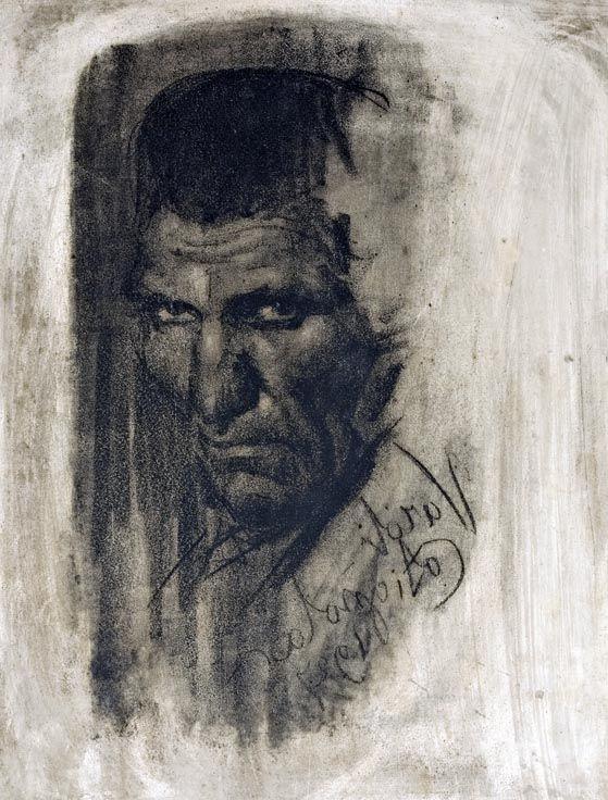Luigi Varoli / L'ergastolano (e Ganì), 1927, Matrice litografica in pietra, 48x38cm