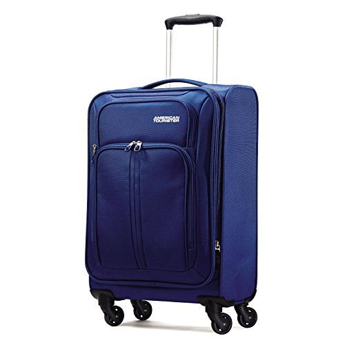 American Tourister Splash LTE Spinner 20 Carry On Luggage Blue