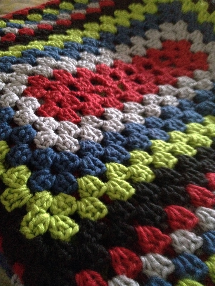Crochet Blanket Used Sarahlondon Rectangle Granny Square