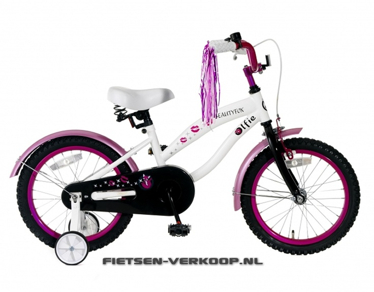 Meisjesfiets Beautyfox Wit & Roze 16 Inch | bestel gemakkelijk online op Fietsen-verkoop.nl