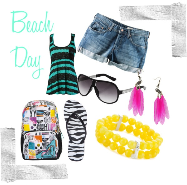 """""""Beach Day"""" by allanaaaa on Polyvore"""
