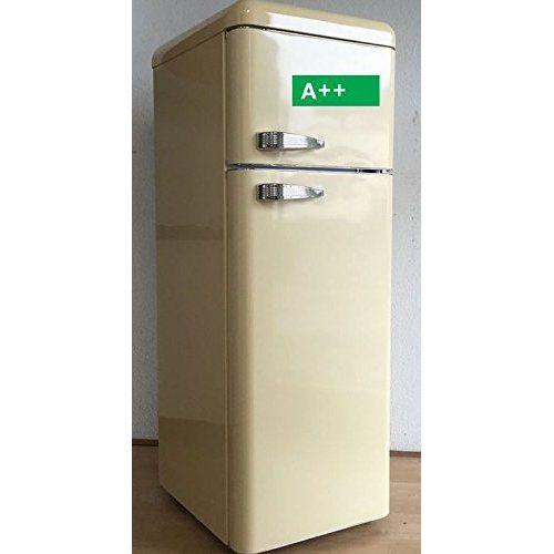 FIVE5Cents G215 / Kühlgefrierkombination / Creme glänzend / Retro / Kühlschrank / KÜHL-GEFRIERKOMBINATION / Rippenlos