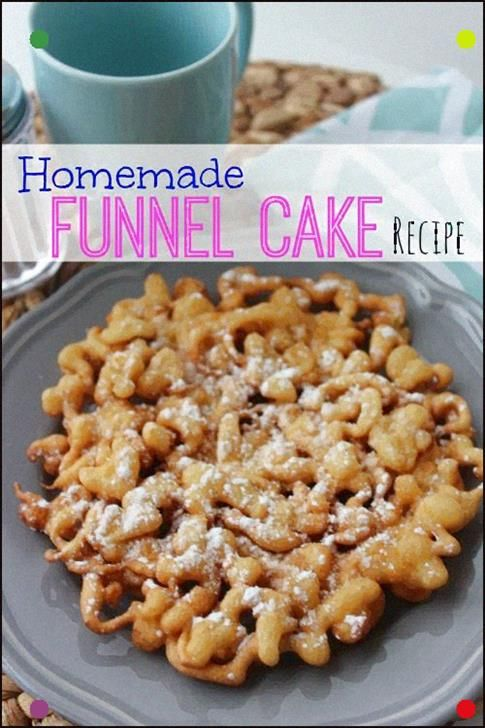Easy Homemade Funnel Cake Recipe Tastes Just Like The State Fair, Such A Fun Ide…