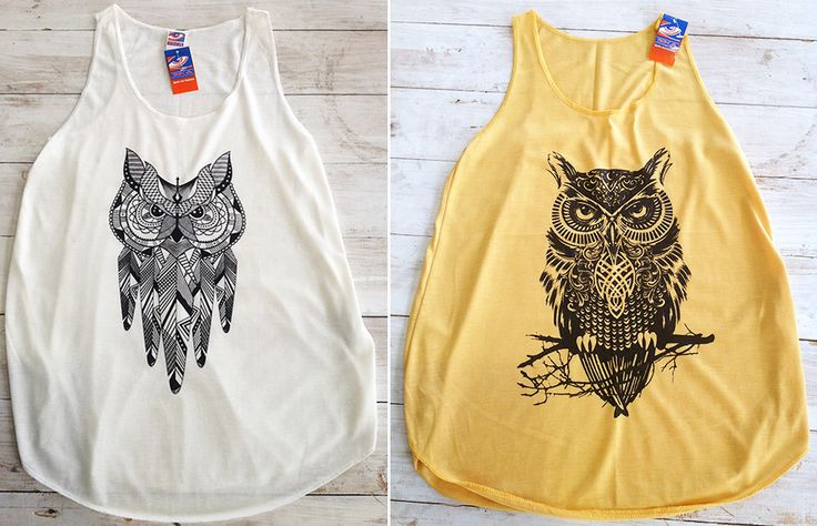 Owl loose tops, R150.