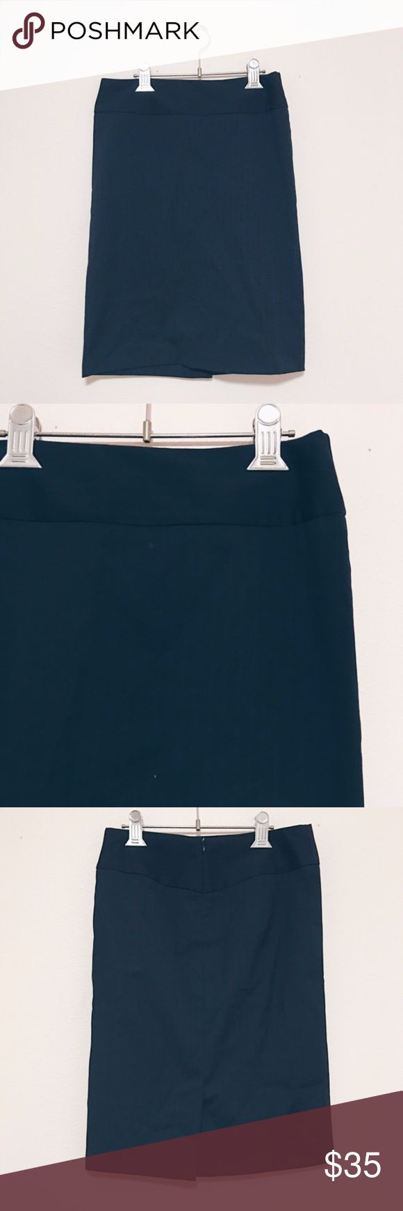United color of Benetton Pencil Skirt ✹ United color of Benetton  ✹ NWOT ✹ Size: 38 (~4) ✹ Black pencil skirt with thin vertical line patterned and a small slit on the back United Colors Of Benetton Skirts Pencil