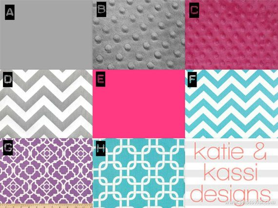 Pink White Turquoise Color Scheme Modern Color Scheme  (Purchase with Crib Bedding Set or Nursery Decor)
