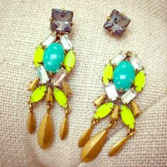2 in 1 Stella and Dot earrings! New Jardin Chandeliers by Stella and Dot! Jewelry Earrings