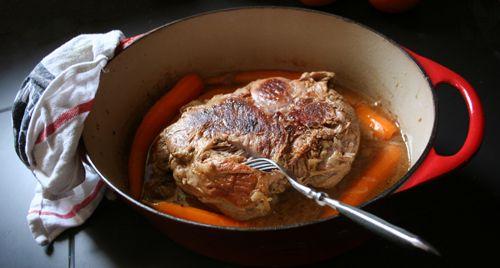 Une recette de gigot à tomber par terre et rassurez vous, le temps de se relever :cuisson de 7 heures...