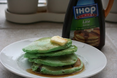 Green pancakes courtesy of my teenSunday Brunch