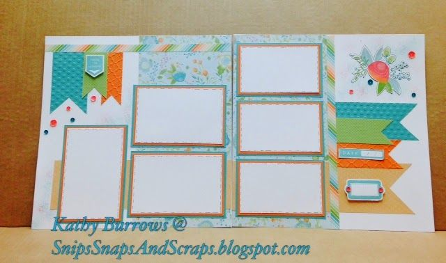 Snips, Snaps, and Scraps: Blossom Layout