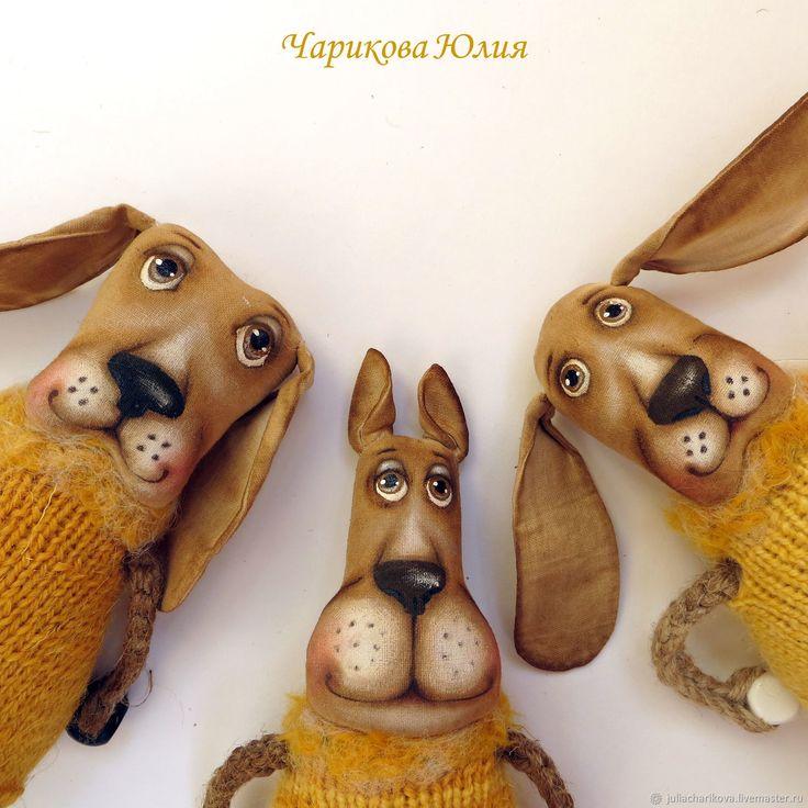 Купить Собачки, Символ 2018 года в интернет магазине на Ярмарке Мастеров