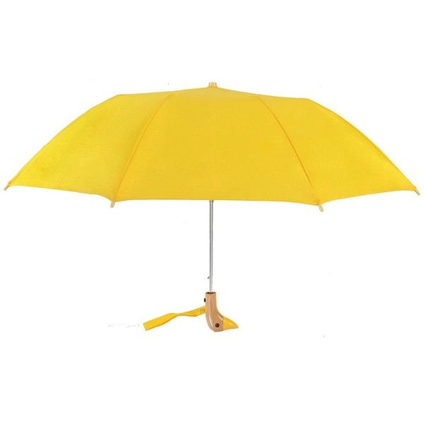 Leighton Wooden Duck Handle Umbrella ($13) ❤ liked on Polyvore featuring accessories, umbrellas, wooden umbrella, wood umbrellas and leighton umbrella