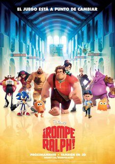 """Tráiler de """"¡Rompe Ralph!"""". Información, sinópsis y ficha técnica de la película #películas #movies #films #carteles"""