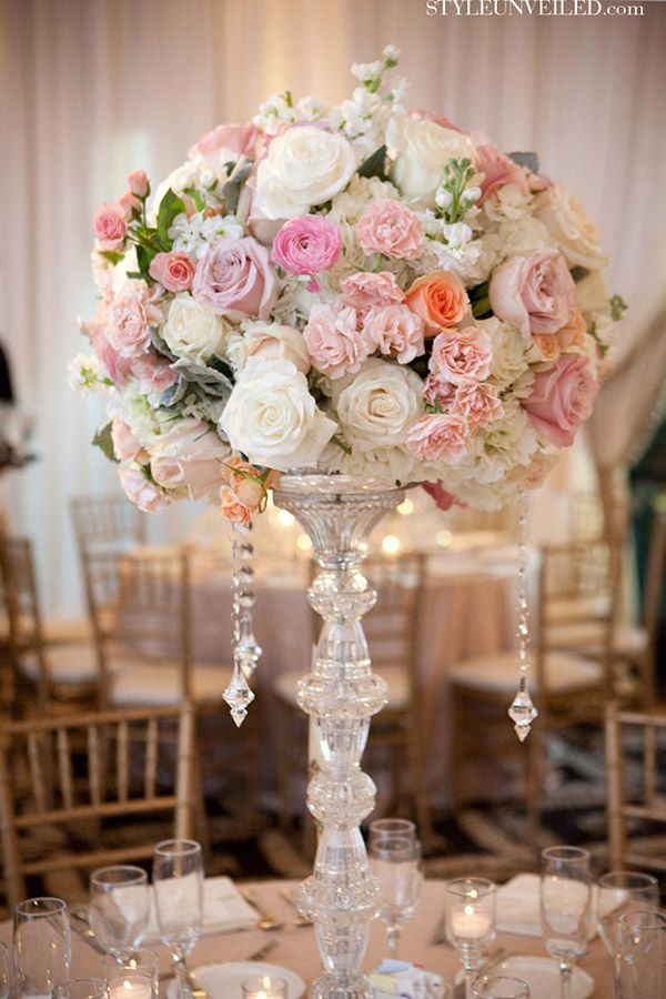 191 best tall centerpieces images on pinterest for Best wedding flower arrangements