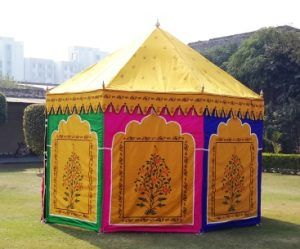 Bright and Colorful Indian Tent for an Indian Theme Wedding