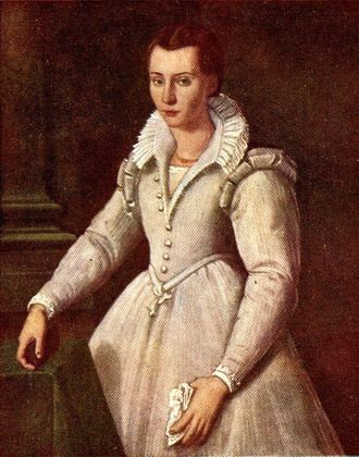 Painting of St. Mary Madgalen de'Pazzi at age 16.