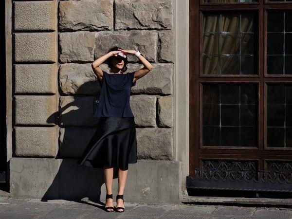 All Black-- On the Street…Piazza dell'Unità Italiana, Florence