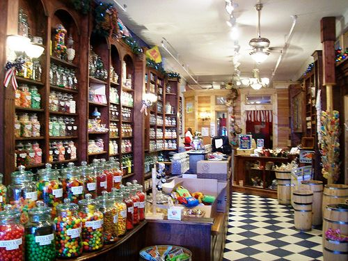 Fully-stocked penny candy store at the logging town of McCloud, near Mount Shasta, CA - burneyfalls04x by mlhradio, via Flickr
