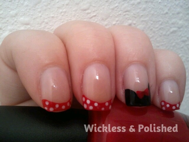 Tips - Minnie Mouse #nailart