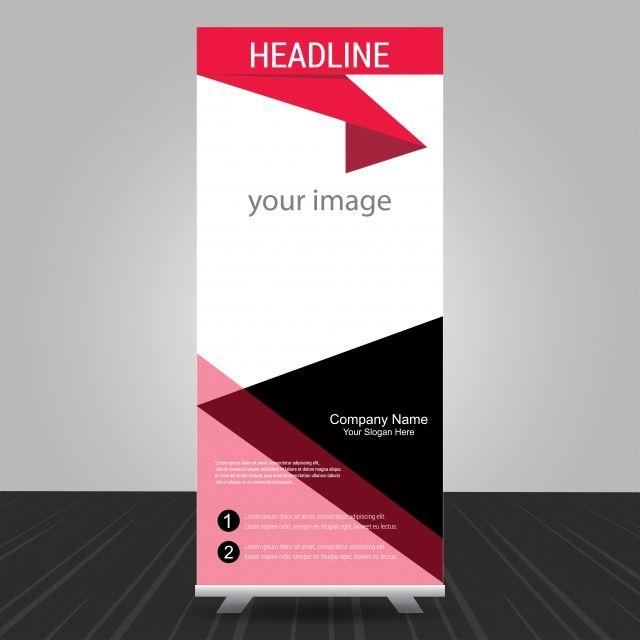 بسيطة الأحمر الواقف نشمر عن تصميم شعار الأعمال التجارية Informati خلاصة الاعلان راية Png والمتجهات للتحميل مجانا Banner Design Standee Design Banner Template
