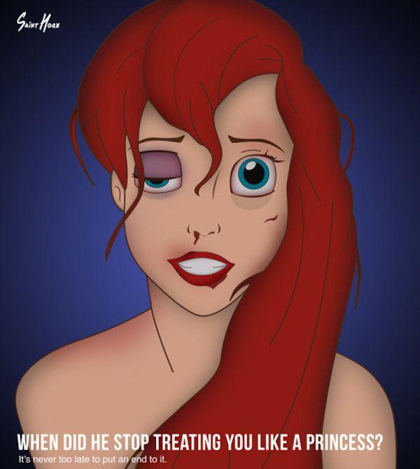 Disturbing Illustrations Depict #Disney #Princesses As Domestic #Violence Victims: http://elitedai.ly/1k9sCPc
