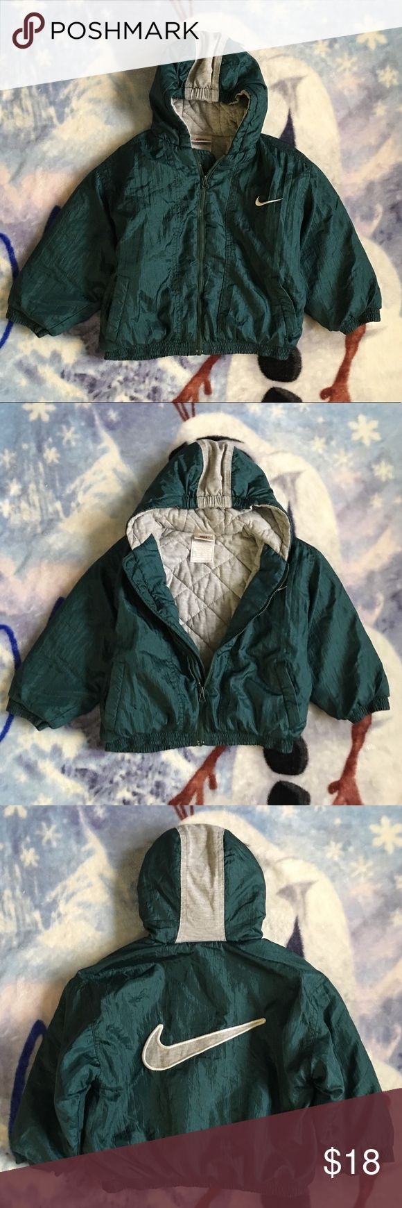 Green Nike Coat Size 4t Boy/Girl green hooded winter coat. Coat brand name is Nike.  Coat size is 4t. Jackets & Coats