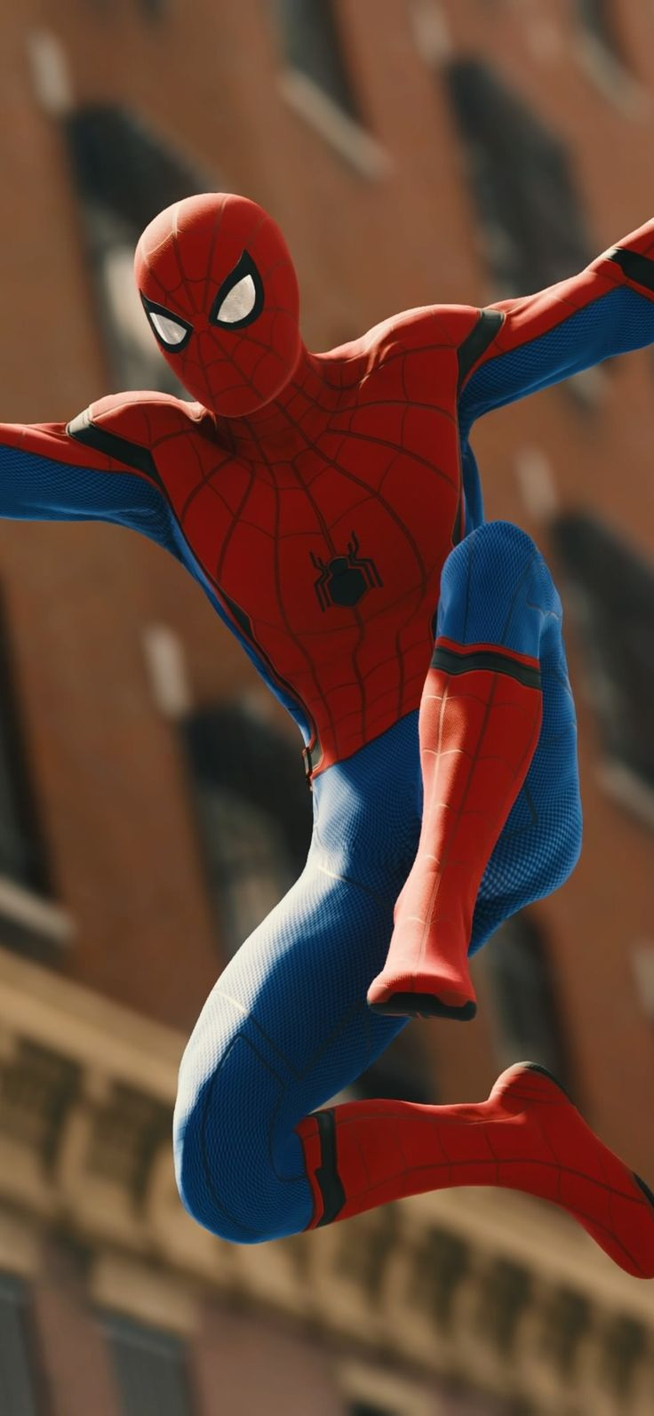 1125x2436 Spiderman Jumping 4k Iphone XS,Iphone 10,Iphone