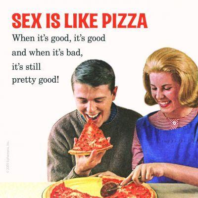 Kitsch.fi - Lasinalunen hmb (1 kpl), Sex is like pizza