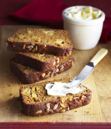 We packed a bushel of fall into this homey loaf: pumpkin, apple, nuts and spices!